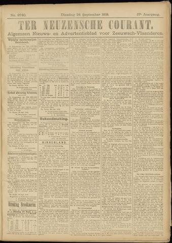 Ter Neuzensche Courant. Algemeen Nieuws- en Advertentieblad voor Zeeuwsch-Vlaanderen / Neuzensche Courant ... (idem) / (Algemeen) nieuws en advertentieblad voor Zeeuwsch-Vlaanderen 1918-09-24