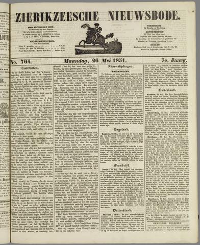 Zierikzeesche Nieuwsbode 1851-05-26