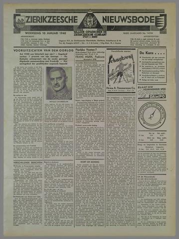 Zierikzeesche Nieuwsbode 1940-01-10