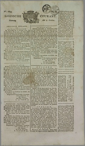 Goessche Courant 1824-10-04