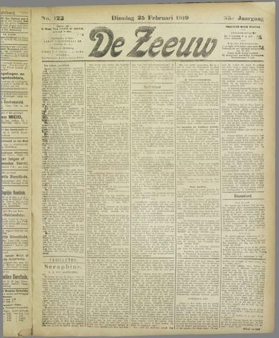 De Zeeuw. Christelijk-historisch nieuwsblad voor Zeeland 1919-02-25
