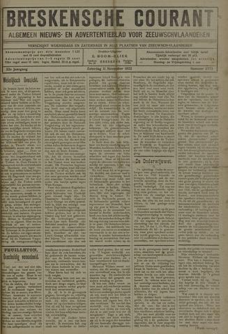 Breskensche Courant 1922-11-11