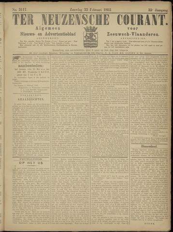Ter Neuzensche Courant. Algemeen Nieuws- en Advertentieblad voor Zeeuwsch-Vlaanderen / Neuzensche Courant ... (idem) / (Algemeen) nieuws en advertentieblad voor Zeeuwsch-Vlaanderen 1895-02-23