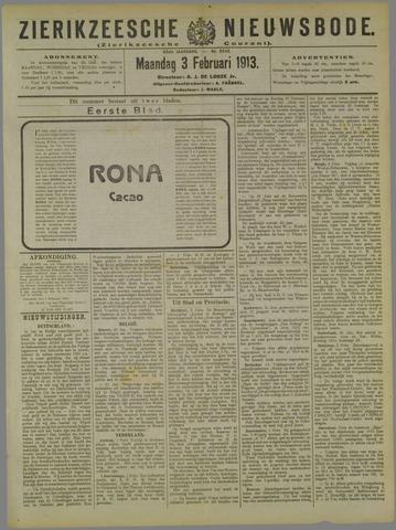 Zierikzeesche Nieuwsbode 1913-02-03