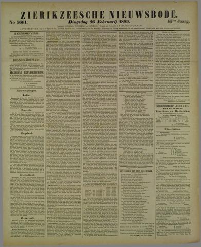Zierikzeesche Nieuwsbode 1889-02-26