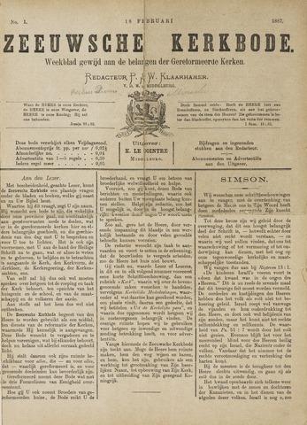 Zeeuwsche kerkbode, weekblad gewijd aan de belangen der gereformeerde kerken/ Zeeuwsch kerkblad 1887-02-18