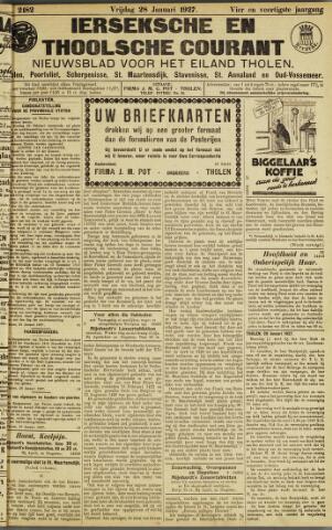 Ierseksche en Thoolsche Courant 1927-01-28
