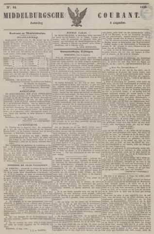 Middelburgsche Courant 1850-08-03