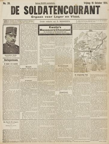 De Soldatencourant. Orgaan voor Leger en Vloot 1914-10-16