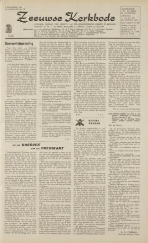 Zeeuwsche kerkbode, weekblad gewijd aan de belangen der gereformeerde kerken/ Zeeuwsch kerkblad 1962-11-09