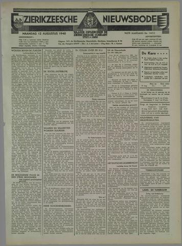 Zierikzeesche Nieuwsbode 1940-08-12