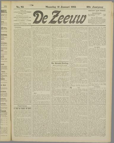 De Zeeuw. Christelijk-historisch nieuwsblad voor Zeeland 1915-01-11
