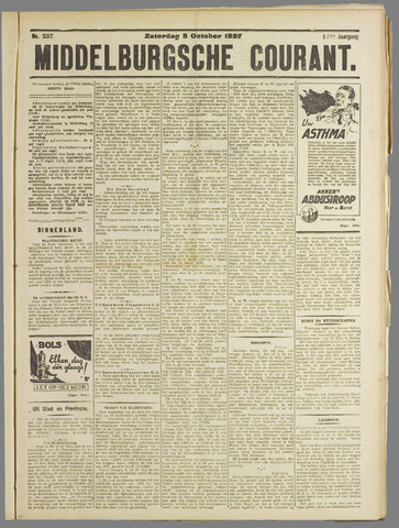 Middelburgsche Courant 1927-10-08