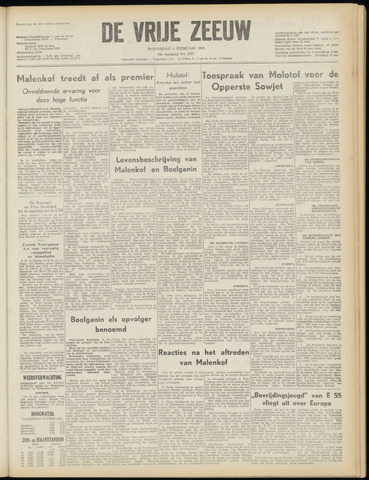 de Vrije Zeeuw 1955-02-09