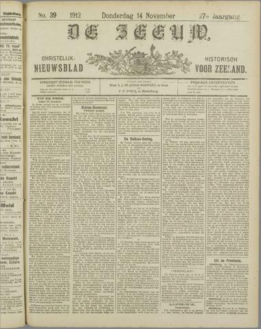 De Zeeuw. Christelijk-historisch nieuwsblad voor Zeeland 1912-11-14