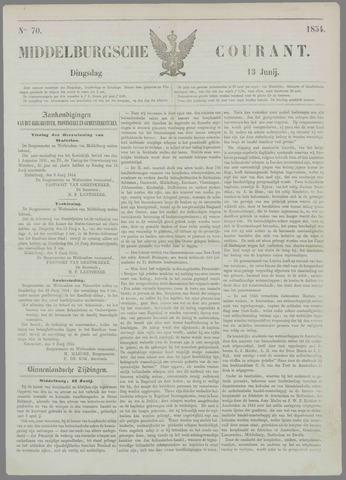 Middelburgsche Courant 1854-06-13