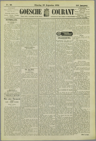 Goessche Courant 1924-08-19
