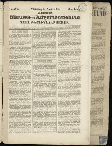 Ter Neuzensche Courant. Algemeen Nieuws- en Advertentieblad voor Zeeuwsch-Vlaanderen / Neuzensche Courant ... (idem) / (Algemeen) nieuws en advertentieblad voor Zeeuwsch-Vlaanderen 1866-04-11