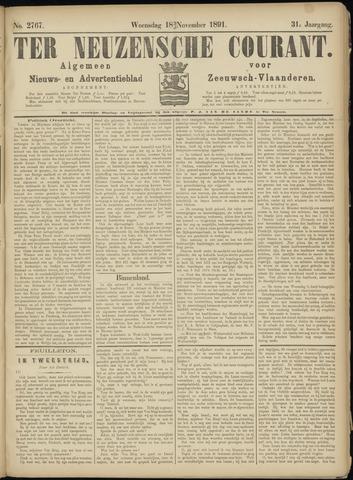 Ter Neuzensche Courant. Algemeen Nieuws- en Advertentieblad voor Zeeuwsch-Vlaanderen / Neuzensche Courant ... (idem) / (Algemeen) nieuws en advertentieblad voor Zeeuwsch-Vlaanderen 1891-11-18