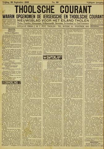 Ierseksche en Thoolsche Courant 1933-09-29