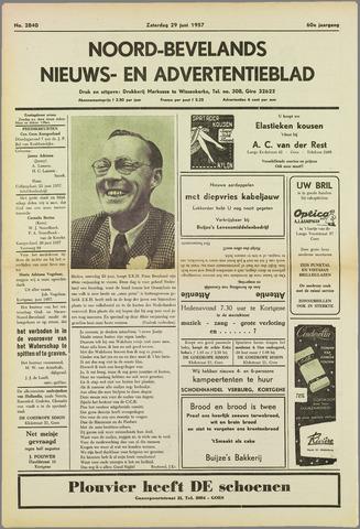 Noord-Bevelands Nieuws- en advertentieblad 1957-06-29