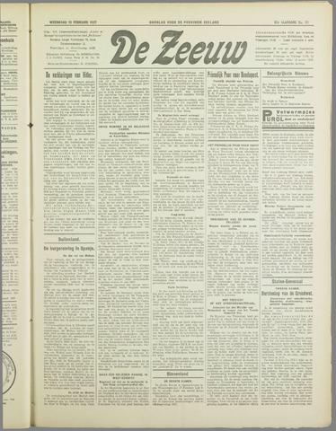 De Zeeuw. Christelijk-historisch nieuwsblad voor Zeeland 1937-02-10