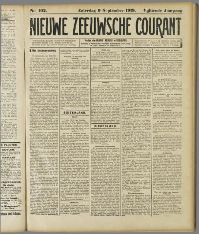 Nieuwe Zeeuwsche Courant 1919-09-06