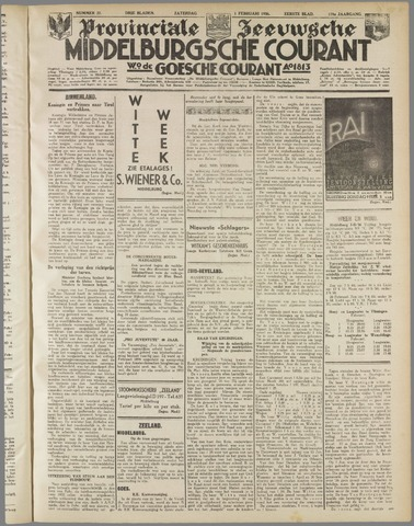 Middelburgsche Courant 1936-02-01