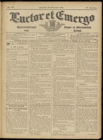 Luctor et Emergo. Antirevolutionair nieuws- en advertentieblad voor Zeeland / Zeeuwsch-Vlaanderen. Orgaan ter verspreiding van de christelijke beginselen in Zeeuwsch-Vlaanderen 1912-12-28