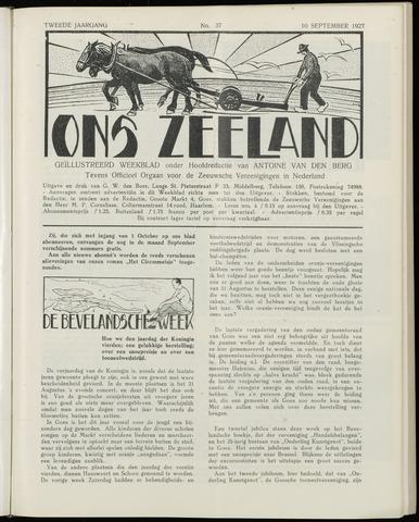 Ons Zeeland / Zeeuwsche editie 1927-09-10