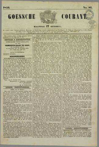 Goessche Courant 1853-10-17