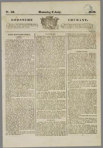 Goessche Courant 1849-07-02