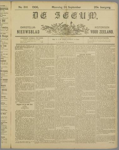 De Zeeuw. Christelijk-historisch nieuwsblad voor Zeeland 1906-09-24