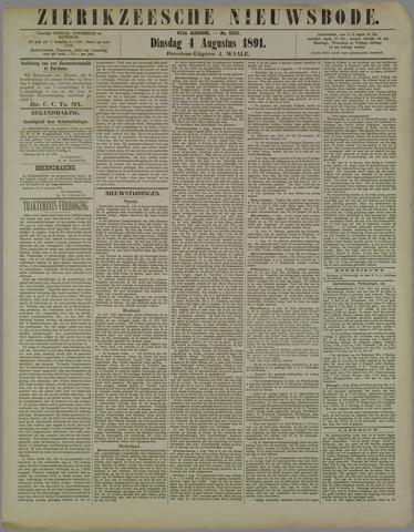 Zierikzeesche Nieuwsbode 1891-08-04
