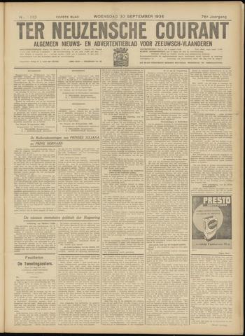 Ter Neuzensche Courant. Algemeen Nieuws- en Advertentieblad voor Zeeuwsch-Vlaanderen / Neuzensche Courant ... (idem) / (Algemeen) nieuws en advertentieblad voor Zeeuwsch-Vlaanderen 1936-09-30