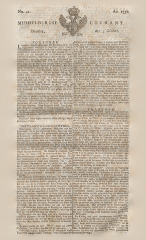 Middelburgsche Courant 1758-10-03