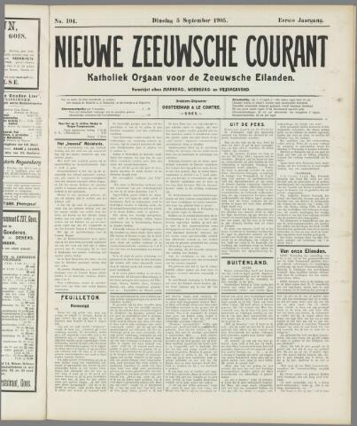 Nieuwe Zeeuwsche Courant 1905-09-05