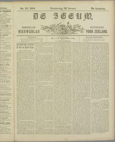 De Zeeuw. Christelijk-historisch nieuwsblad voor Zeeland 1904-01-28