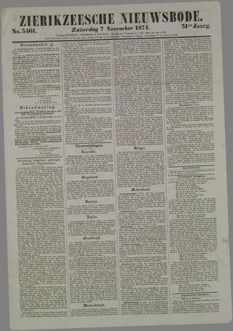 Zierikzeesche Nieuwsbode 1874-11-07