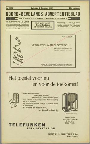 Noord-Bevelands Nieuws- en advertentieblad 1932-12-03