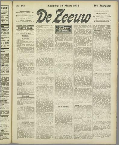 De Zeeuw. Christelijk-historisch nieuwsblad voor Zeeland 1924-03-22