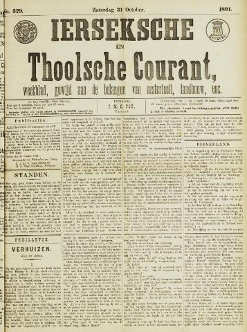 Ierseksche en Thoolsche Courant 1891-10-31