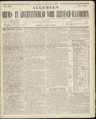 Ter Neuzensche Courant. Algemeen Nieuws- en Advertentieblad voor Zeeuwsch-Vlaanderen / Neuzensche Courant ... (idem) / (Algemeen) nieuws en advertentieblad voor Zeeuwsch-Vlaanderen 1869-11-03