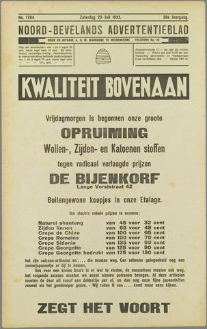 Noord-Bevelands Nieuws- en advertentieblad 1932-07-23