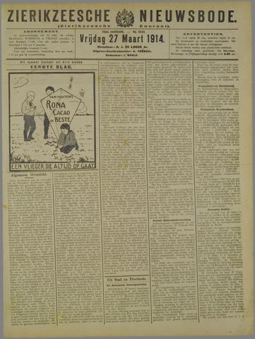 Zierikzeesche Nieuwsbode 1914-03-27