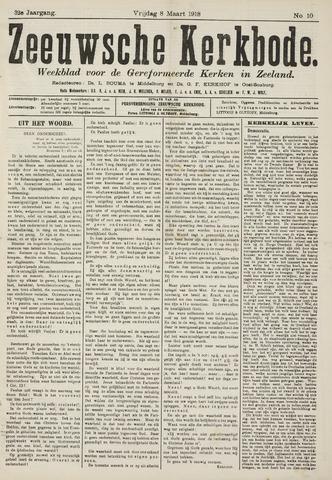 Zeeuwsche kerkbode, weekblad gewijd aan de belangen der gereformeerde kerken/ Zeeuwsch kerkblad 1918-03-08