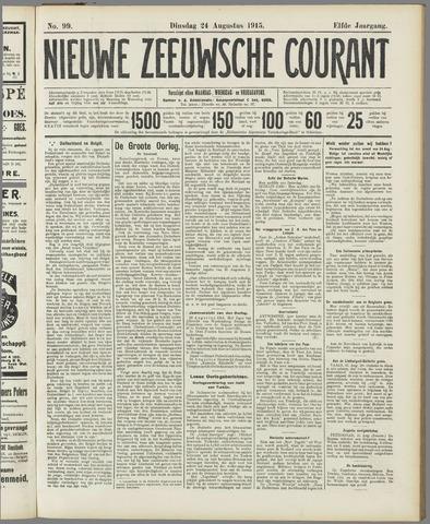 Nieuwe Zeeuwsche Courant 1915-08-24