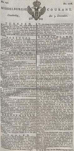 Middelburgsche Courant 1778-12-03