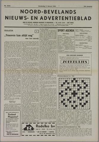 Noord-Bevelands Nieuws- en advertentieblad 1982-02-11