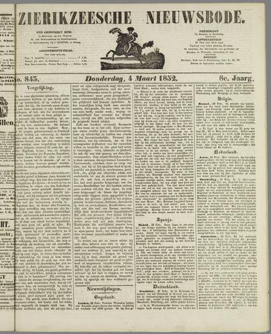 Zierikzeesche Nieuwsbode 1852-03-04